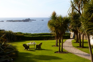 Garden view at The Old Coastguard