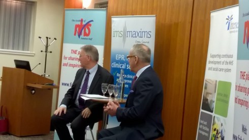 Professor Sir Mike Richards and Roy Lilley - avoiding me!